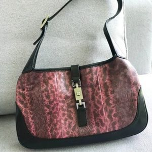 Gucci Python Snakeskin Leather Jackie O Hobo